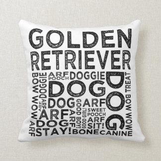 Golden Retriever Typography Cushion