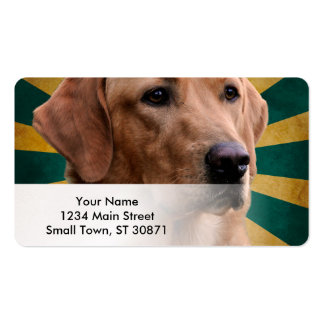 Golden Retriever Vintage Background Green Yellow Pack Of Standard Business Cards