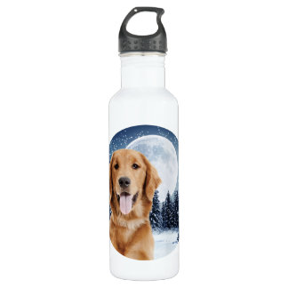 Golden Retriever Water Bottle 710 Ml Water Bottle