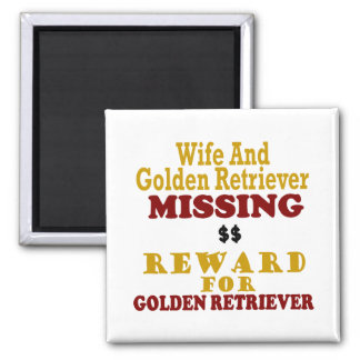 Golden Retriever & Wife Missing Reward For Golden Magnet