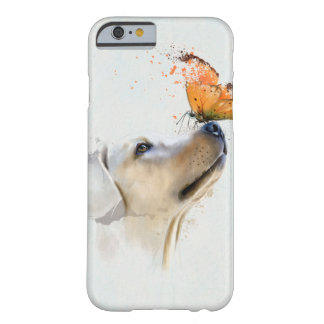 Golden Retriever With a Butterfly on Its Nose Barely There iPhone 6 Case