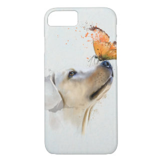 Golden Retriever With a Butterfly on Its Nose iPhone 7 Case