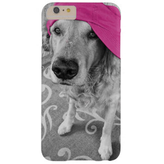 Golden Retriever with pink cap Barely There iPhone 6 Plus Case