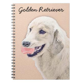 Golden Retriever with Tennis Ball Notebooks