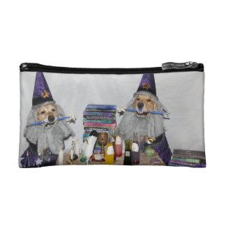Golden Retriever Wizard's Workshop Cosmetics Bags