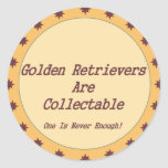 Golden Retrievers Are Collectable Stickers