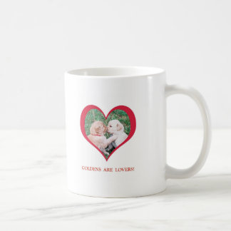Golden Retrievers are Lovers!  Valentine's Day Mugs