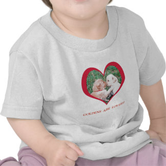 Golden Retrievers are Lovers!  Valentine's Day T Shirts