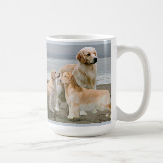 Golden Retrievers at the Beach Mug