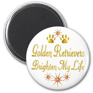 Golden Retrievers Brighten My Life Refrigerator Magnets