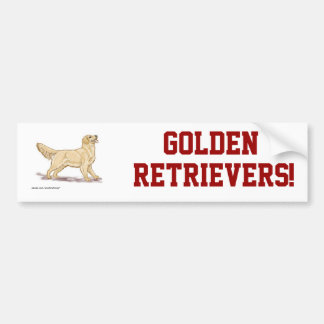 Golden Retrievers! Bumper Sticker