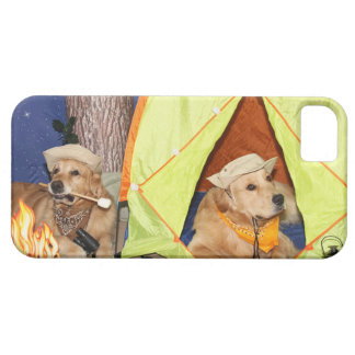 Golden Retrievers Camping Case For The iPhone 5