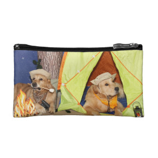 Golden Retrievers Gone Camping Cosmetic Bag