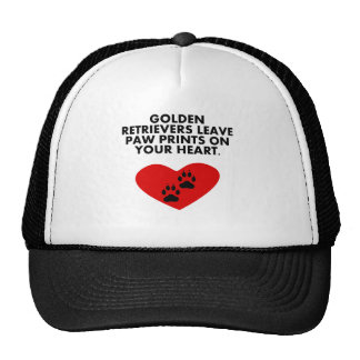 Golden Retrievers Leave Paw Prints On Your Heart Trucker Hat