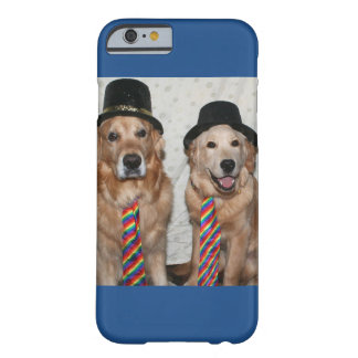 Golden Retrievers Wearing Hats and Ties Barely There iPhone 6 Case