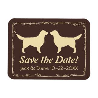 Golden Retrievers Wedding Save the Date Magnet