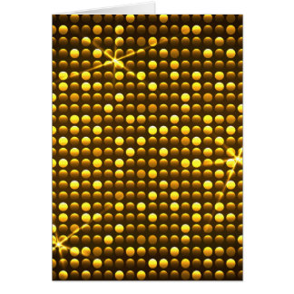 Golden Retro Disco Greeting Card