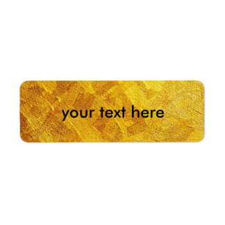 Golden Return Address Labels your text here