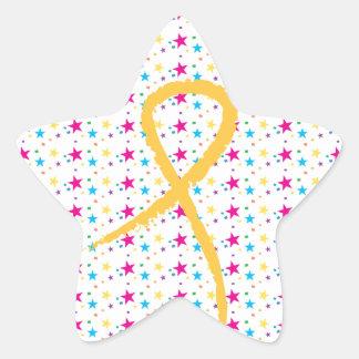 Golden Ribbon Stars Sticker