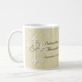 Golden Rings Christian Love Wedding Anniversary Coffee Mug