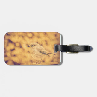 Golden Robin Luggage Tag