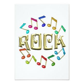 GOLDEN ROCK 13 CM X 18 CM INVITATION CARD