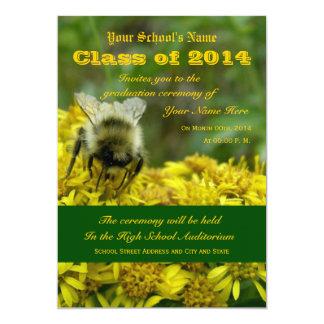 Golden Rod Graduation 13 Cm X 18 Cm Invitation Card