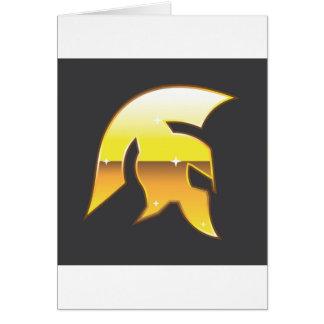 Golden Roman Helmet Greeting Card