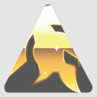 Golden Roman Helmet Triangle Sticker