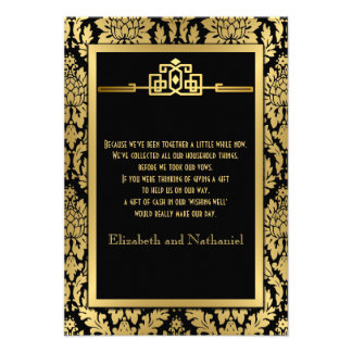 Golden Romance 1920s Art Deco Wishing Well Card
