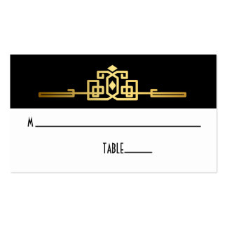 Golden Romance Art Deco Place Card Pack Of Standard Business Cards