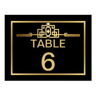 Golden Romance Art Deco Table Number Card