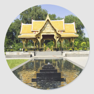 Golden Roof Pavilion Thailand Classic Round Sticker