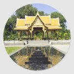 Golden Roof Pavilion Thailand Classic Round Sticker