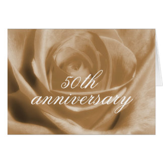Golden Rose 50th anniversary Card