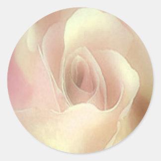 Golden Rose envelope seal Round Sticker