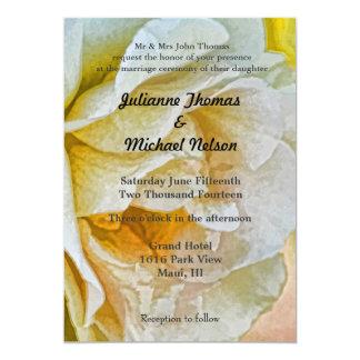 "Golden Rose 5"" X 7"" Invitation Card"