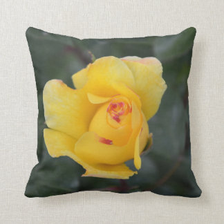 Golden rose pillow throw cushion