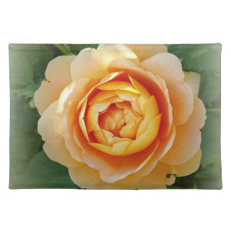 Golden rose placemat