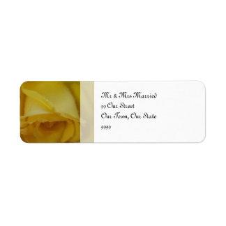 Golden Rose Wedding Return Address Label
