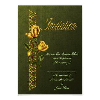 Golden Roses Wedding Suite Card
