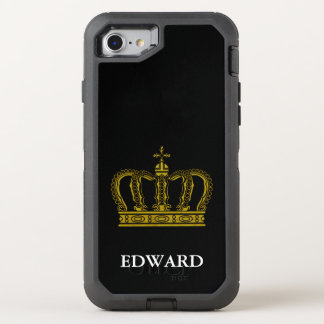 Golden Royal Crown I + your backgr. & ideas OtterBox Defender iPhone 7 Case