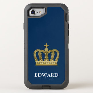 Golden Royal Crown II + your backgr. & ideas OtterBox Defender iPhone 7 Case