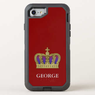 Golden Royal Crown IV + your backgr. & ideas OtterBox Defender iPhone 7 Case