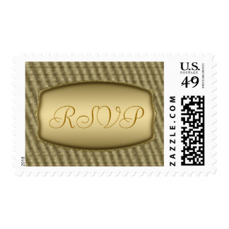 Golden RSVP postage