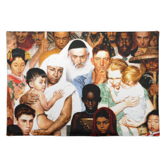 Golden Rule (Do unto others) by Norman Rockwell Placemat