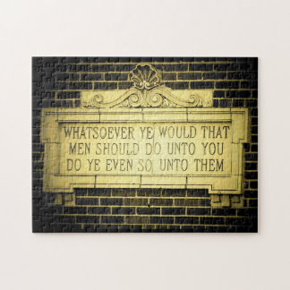 Golden rule jigsaw puzzle