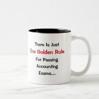 Golden Rule of Accounting Exams Two-Tone Coffee Mug
