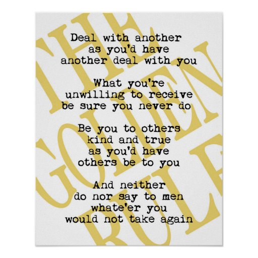 Golden Rule Quotation Poster