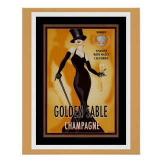 Golden Sable Champagne Ad Poster